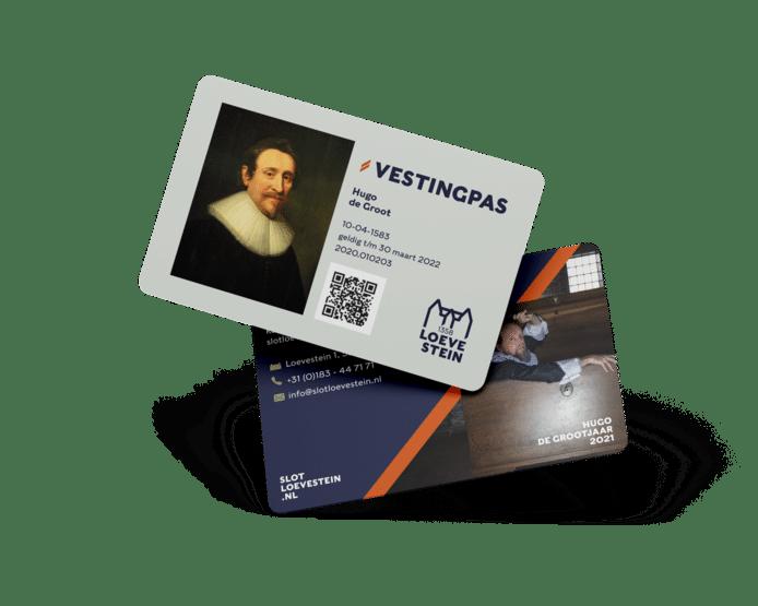 De nieuwe Vestingpas, een abonnement voor het buitenterrein van Slot Loevestein.