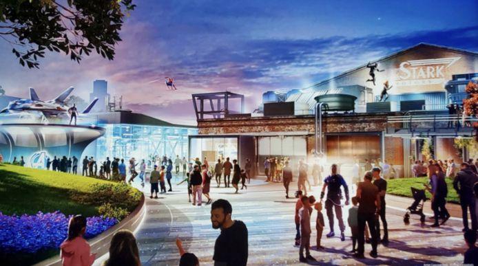 De nieuwe 'Avengers Campus' van Disney.