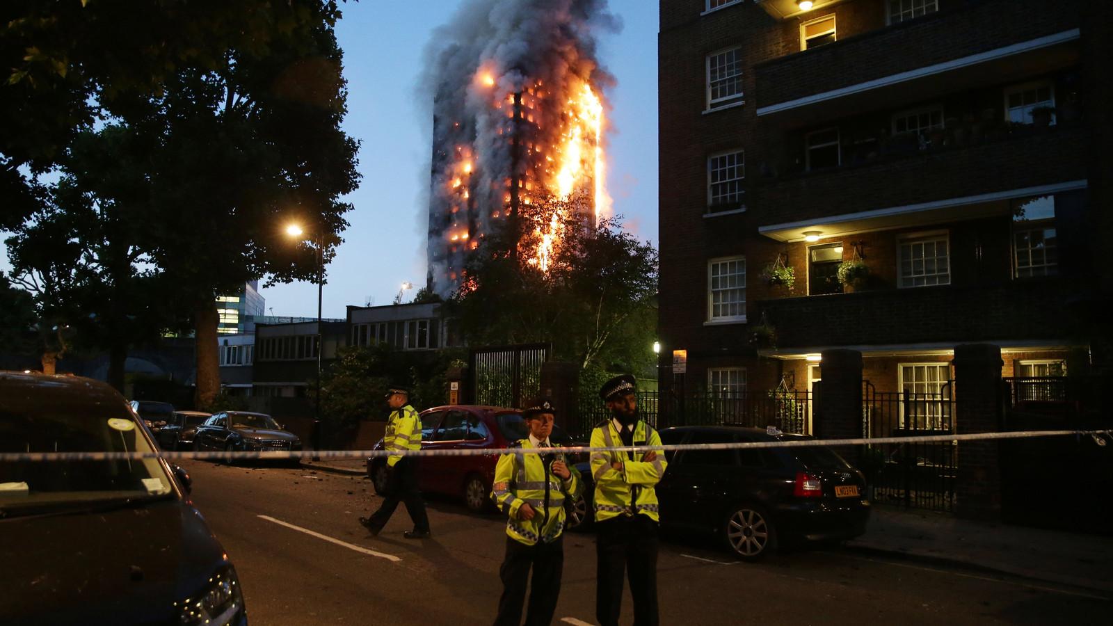 In juni 2017 stond de Grenfell Tower in Londen in brand.