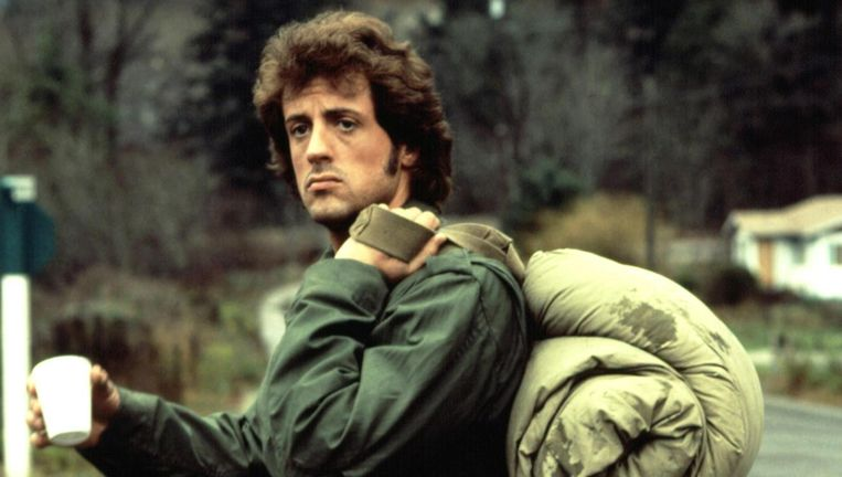 Sylvester Stallone in First Blood. Beeld .