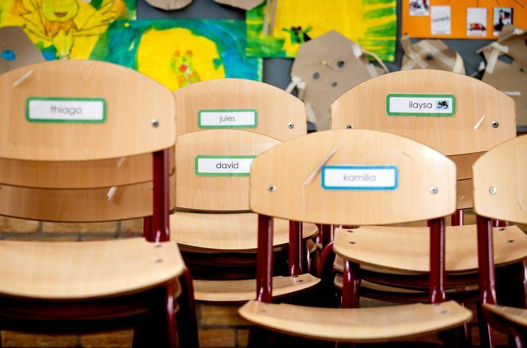 Een leeg klaslokaal op een basisschool. Beeld ANP