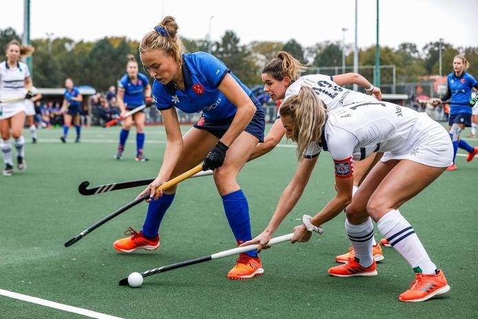 Geen promotie in de overgangsklasse en dus moeten de dames van Breda en Push het volgend seizoen weer tegen elkaar opnemen op dat niveau.