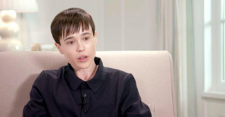 Elliot Page bij Oprah Winfrey. Beeld apple tv