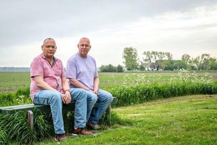 Henk Kosters (l) en Dingeman Steijn hebben het plan om een supportergroep voor oudere 50 plussers LHBTI opgezet in Middelburg.