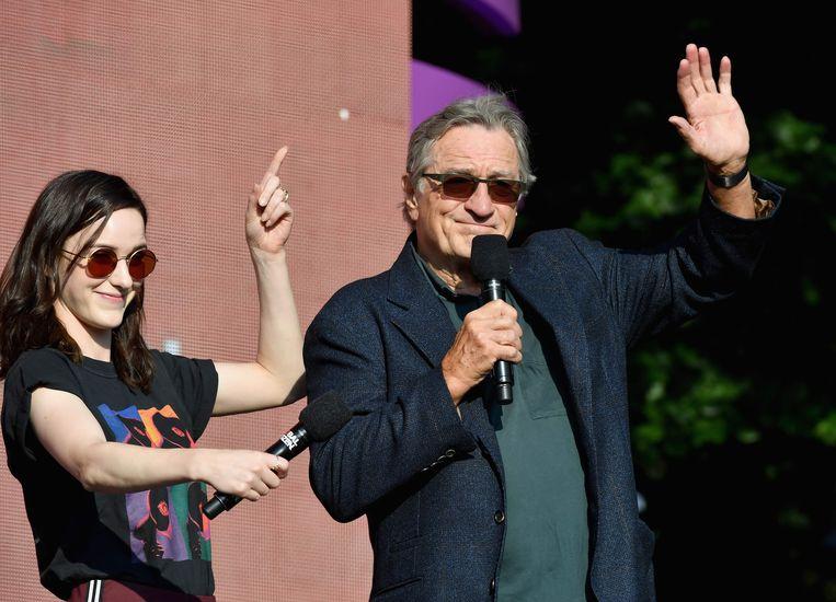 Robert De Niro vorige maand tijdens een festival in Central Park in New York.  Beeld null