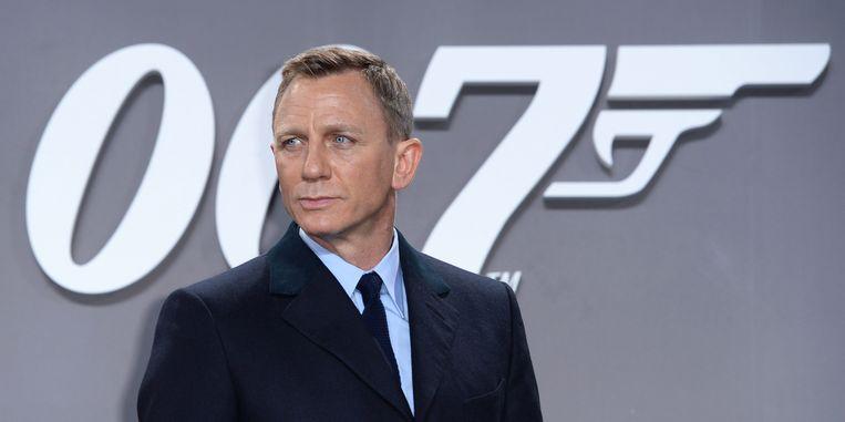 Daniel Craig op de première van 'Spectre' in Berlijn in 2015.  Beeld EPA