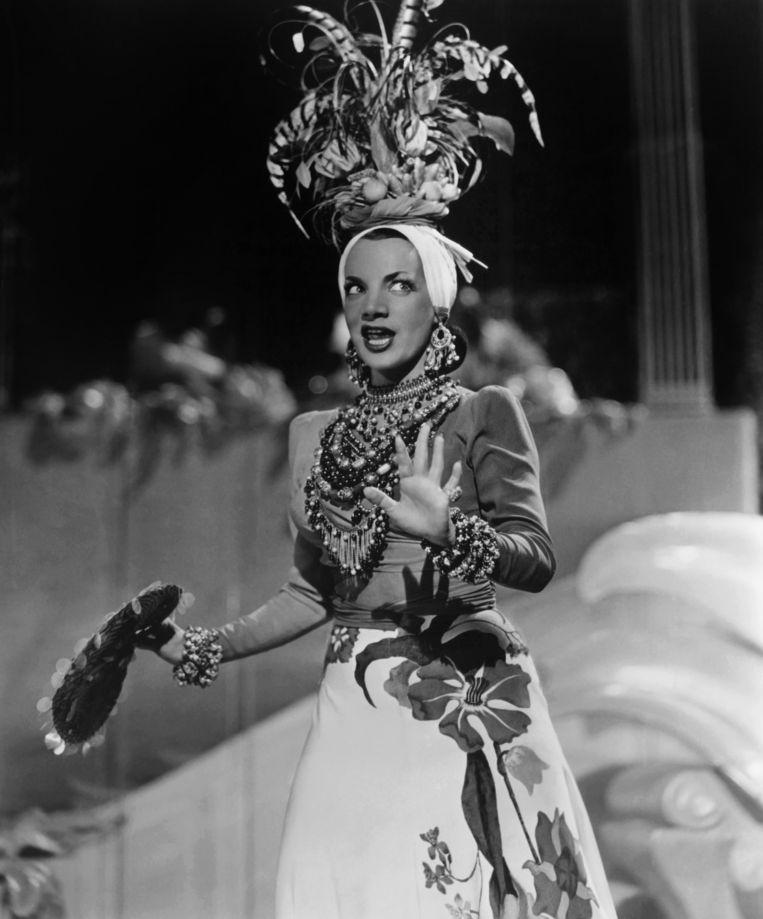 Carmen Miranda in Week-End in Havana, 1941. Beeld Hollandse Hoogte / Everett Collection, Inc.