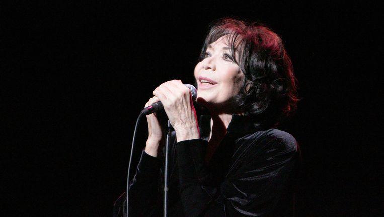 Juliette Gréco tijdens haar 80ste verjaardag in Parijs in 2007. Beeld anp