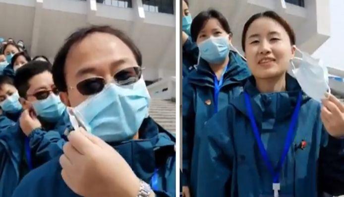 Après la fermetures des hôpitaux de fortune, la joie des médecins chinois du Wuhan