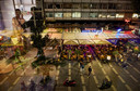 Uitzicht vanuit de studentenwoningen op het Stadhuisplein.