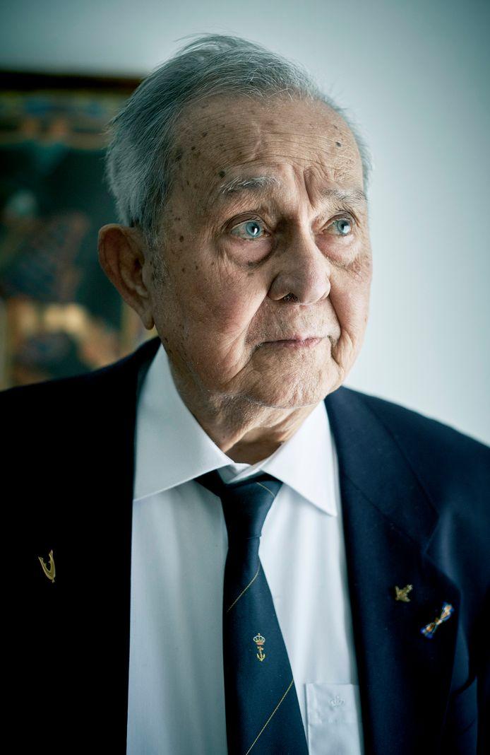 Felix Jans (93) overleeft de Slag om de Javazee op 27 februari 1942 met nog zo'n honderd opvarenden.
