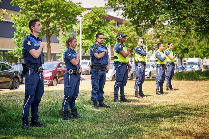 In mei demonstreerden deze boa's in Den Haag tegen het toenemende geweld en agressie.