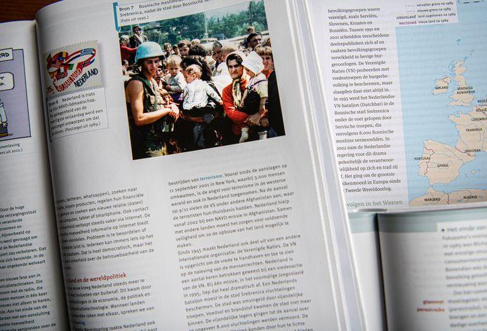 In de lesmethodes die Van Berkel onderzocht was er één die vijf pagina's aan de gebeurtenissen in Srebrenica besteedde. Veel vaker ging het om een halve pagina of minder.
