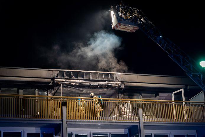Het appartement in Doorn brandde volledig uit.