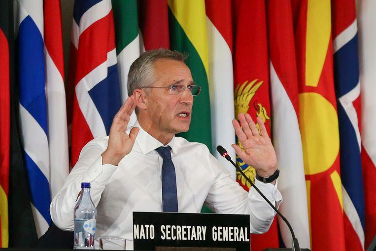 Navo-topman Jens Stoltenberg. Beeld EPA