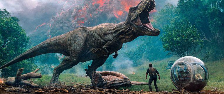 Een beeld uit 'Jurassic World: Fallen Kingdom'.  Beeld AP