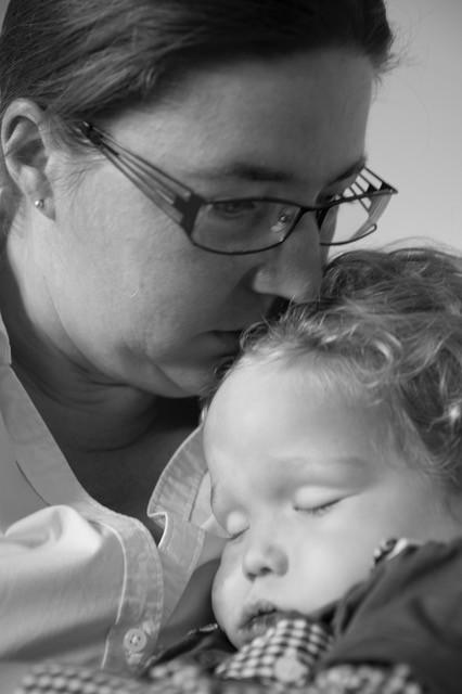 Wendy Marsman en haar overleden zoon Lennart.