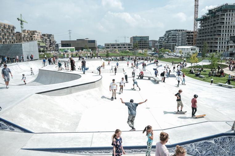 Skatepark Zeeburgeiland. Beeld Jakob Van Vliet