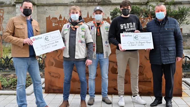 CD&V steunt Scouts Lede en Chiro Papegem met cheque van 500 euro