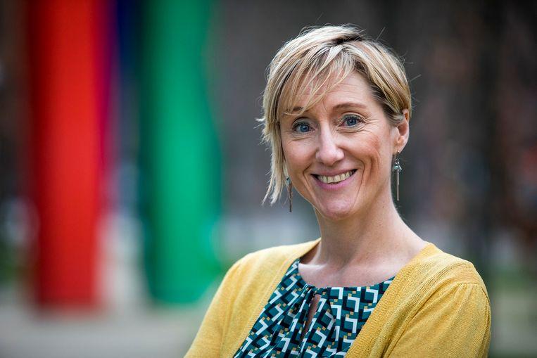 Jennifer Pots is coördinator van de Federatie van Tele-Onthaaldiensten Vlaanderen & Brussel. Beeld RV