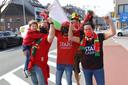 Fans van KV Oostende.