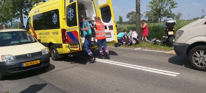 Ongeval op de Bodegraafsestraatweg in Gouda.