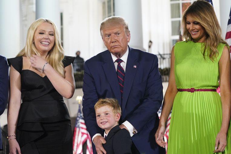 Tiffany Trump, Donald Trump en Melania Trump. Beeld EPA