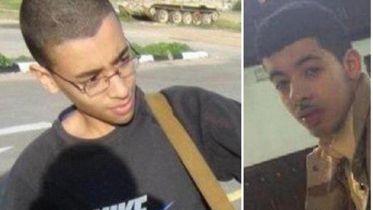 De zelfmoordterrorist van Manchester Salman Abedi (rechts) en zijn broer Hashim (links) Beeld rv
