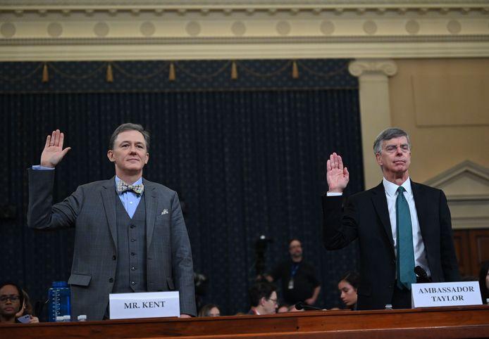 Getuigen George Kent en Bill Taylor.
