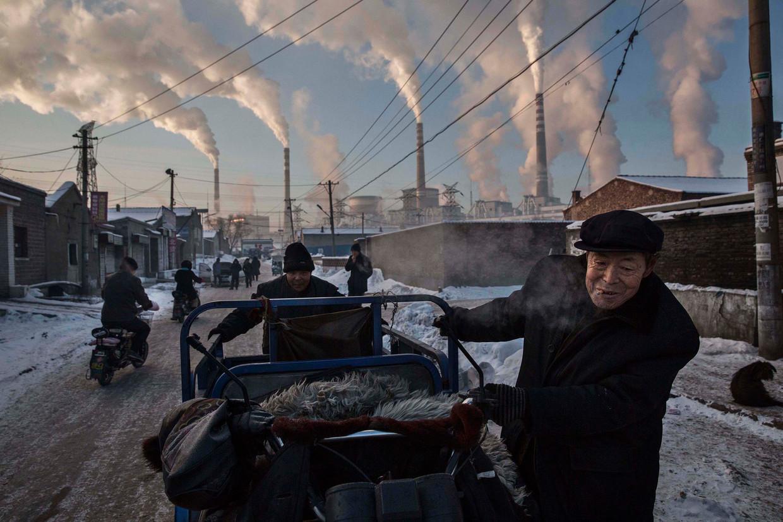 Op deze World Press Photo-winnende foto uit 2015 van kolencentrale bij Shanxi.