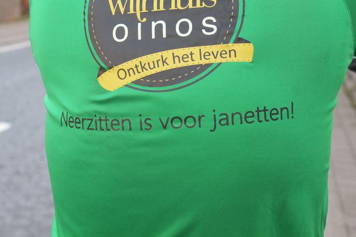 Met deze slogan trekt Geert De Mulder naar de Ronde Van Vlaanderen.