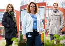 Vlnr: Miranda Pieters, Eliza van der Klaauw en Annemieke Krijgsman van het Parkhuis.