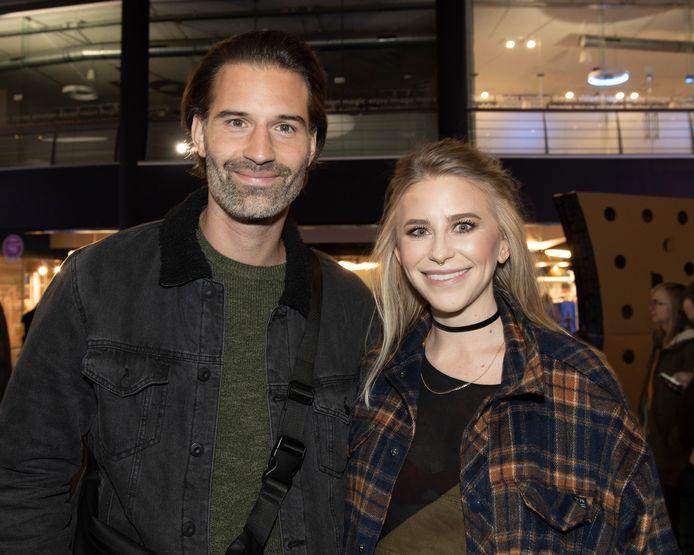 Sean Dhondt met zijn partner Allison Scott in 2019.