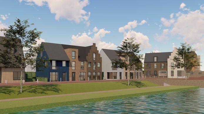 Impressies van de projectmatige woningen die gebouwd worden in het dorp Reeve.