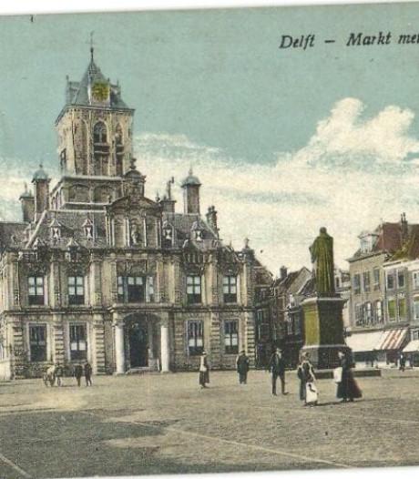 Zo ziet de oudste ansichtkaart van Delft eruit