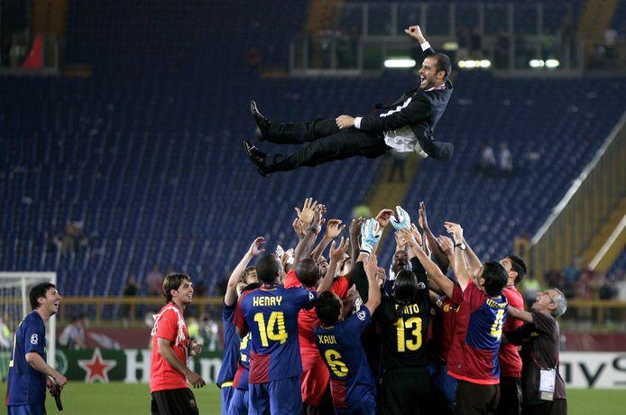 Pep Guardiola ha vinto subito la tripletta nella sua prima stagione da allenatore dell'FC Barcelona (2008/2009).