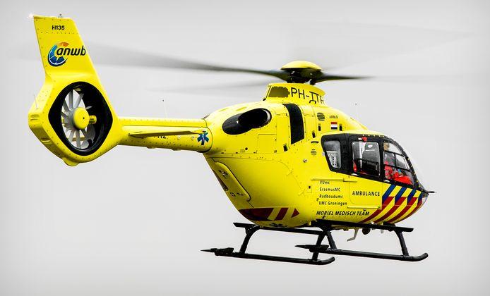 Een traumahelikopter werd ingezet om ambulancepersoneel bij te staan. Foto ter illustratie.
