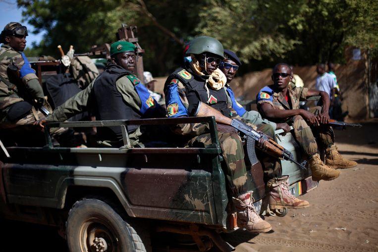Een legerpatrouille in Mali
