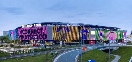 Zo ziet de Ghelamco Arena eruit in snoepkleurtjes