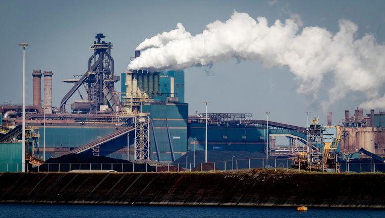 De hoogovens van Tata Steel in IJmuiden Beeld anp