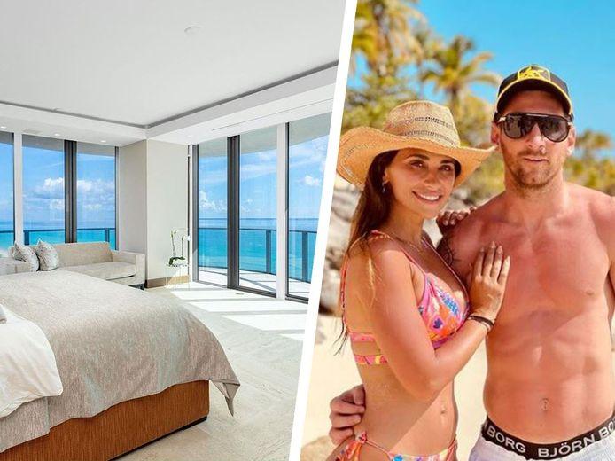 Links: Messi's loft in Miami, rechts: Leo met zijn vrouw Antonella op de Dominicaanse Republiek.