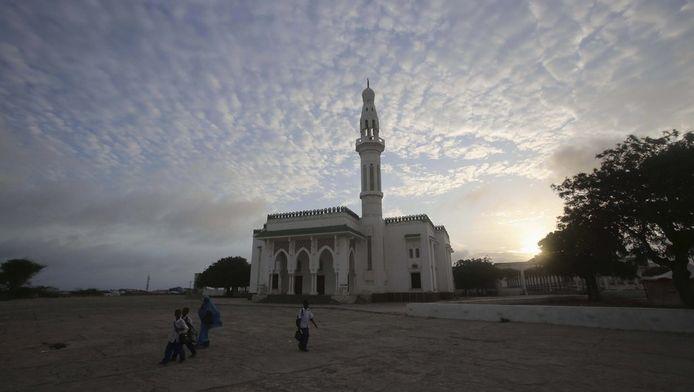 Een moskee in Mogadishu.