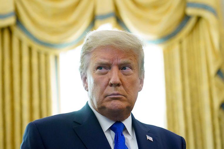 'Trump is niet meer of minder dan het prototype van de grofgebekte New Yorkse vastgoedmakelaar.' Beeld AP