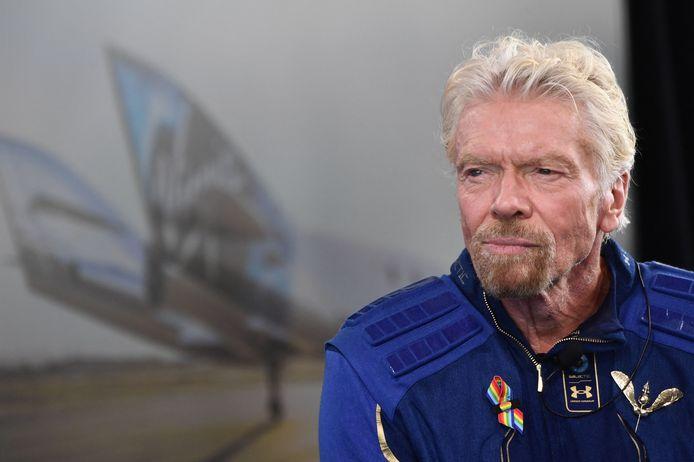 Richard Branson na zijn ruimtevlucht.