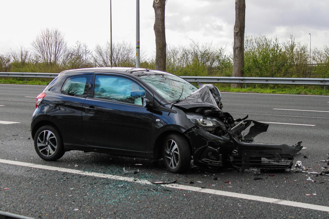 Ongeluk op de A12 ter hoogte van Reeuwijk.