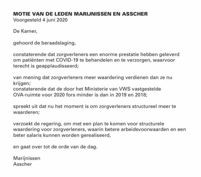 De omstreden motie van de SP en de PvdA