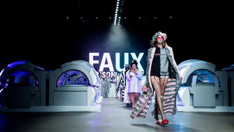 De show van Maison the Faux tijdens de Amsterdam Fashion Week, vorig jaar nog in de Westergasfabriek. Beeld anp