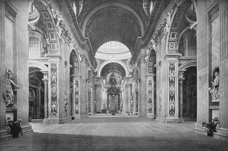 De Sint-Pietersbasiliek in Vaticaanstad.  Beeld Universal Images Group via Getty