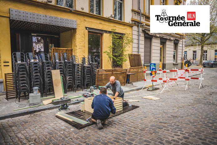 De Gentse horeca bereidt zich voor op de opening van de terrassen.