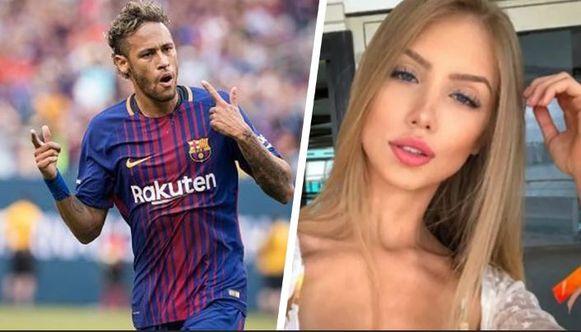 Neymar en Najila Trindade.